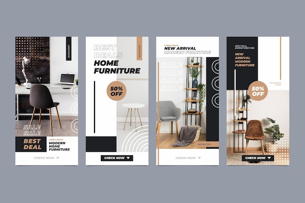 Vente de meubles collection d'histoires instagram