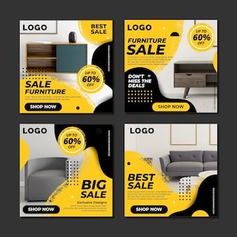 Vente de meubles collection de post instagram avec photo