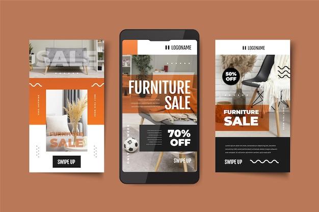 Vente de meubles dégradés collection instagram story