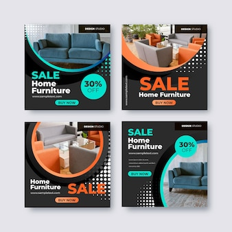 Vente de meubles dégradés instagram post collection