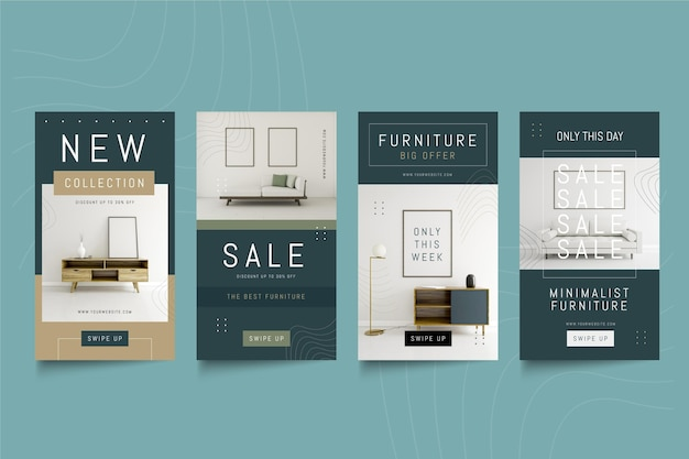 Vente de meubles instagram stories