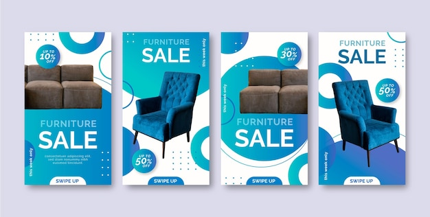Vente de meubles instagram story collection
