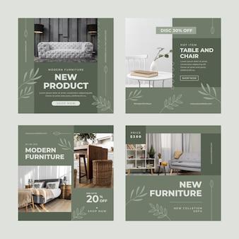 Vente de meubles plats instagram post collection