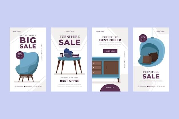 Vente de meubles plats instagram story collection