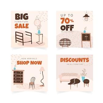 Vente de meubles plats organiques collection instagram post