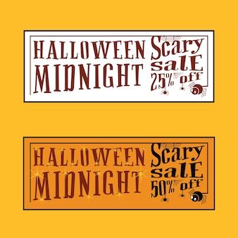 Vente de minuit sur halloween