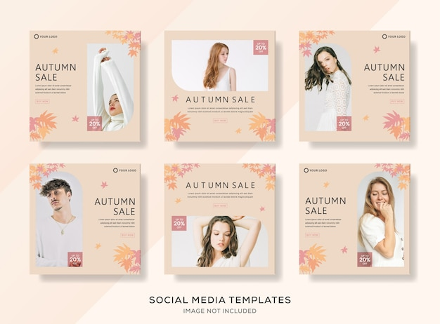 Vente de mode automne modèle de bannière.
