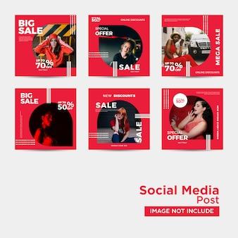 Vente de mode pour les médias sociaux