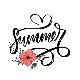 Vente de mots .lettres faites de fleurs et de feuilles vente d'été affiche de vacances flyer banner affiche ventes d'été