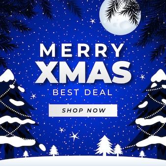 Vente De Noël Design Plat Vecteur gratuit