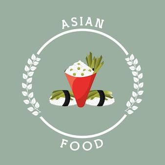 Vente de nourriture asiatique