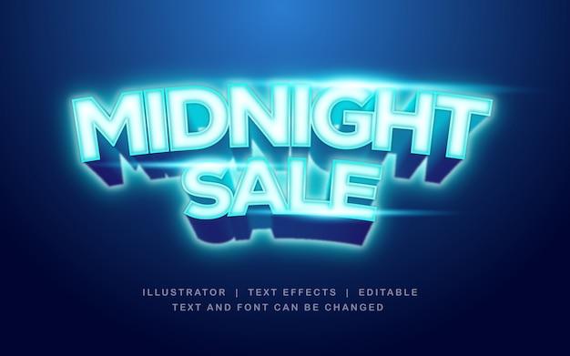 Vente de nuit, effet de texte happy shop