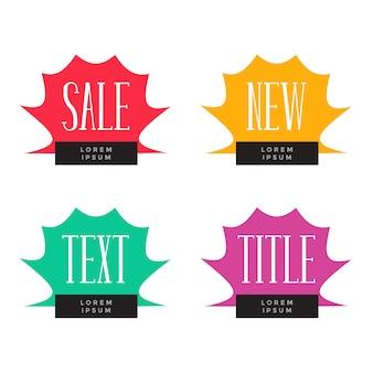 Vente et offre des étiquettes de symbole ensemble de quatre