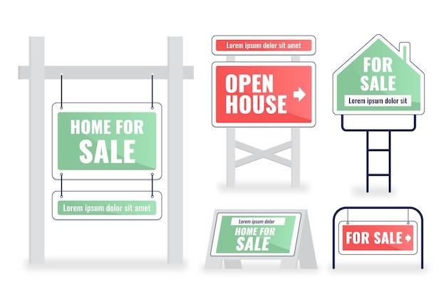 Vente pack d'enseignes immobilières
