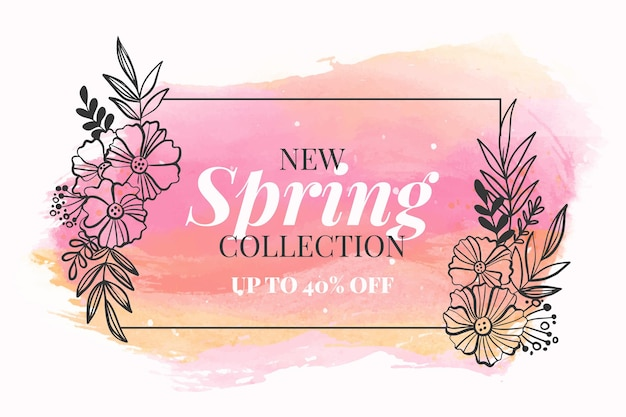 Vente de printemps aquarelle