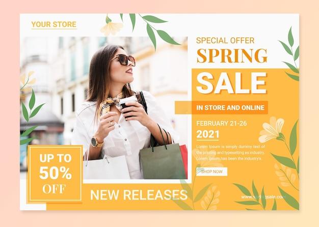 Vente de printemps design plat