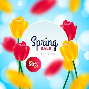 Vente de printemps floue