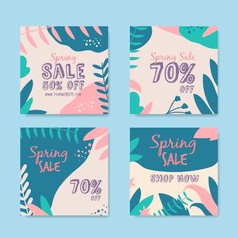 Vente de printemps instagram post collection concept