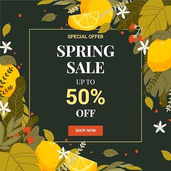 Vente de printemps plat avec des offres spéciales