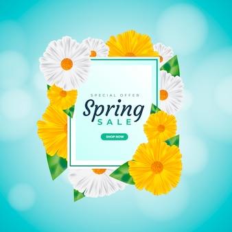 Vente de printemps réaliste