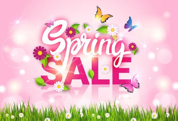 Vente de printemps shopping offre spéciale bannière des fêtes