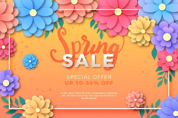 Vente de printemps en style papier