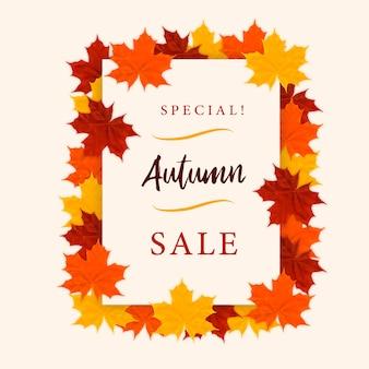 Vente spéciale d'automne! conception d'affiche