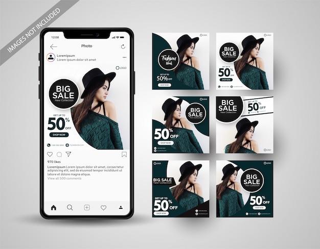 Vente spéciale post collection de médias sociaux instagram