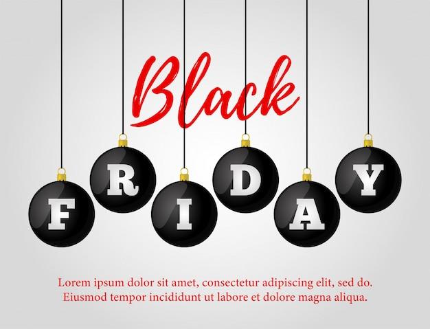 Vente de vendredi noir. affiche publicitaire, bannière