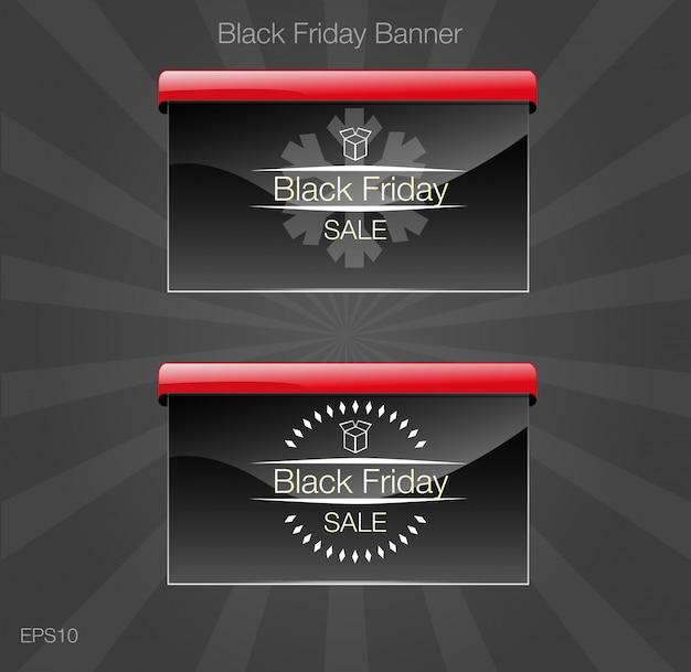 Vente de vendredi noir. carte de style bannière noire.