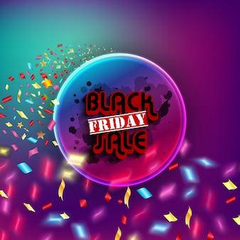 Vente de vendredi noir avec cercle de concept