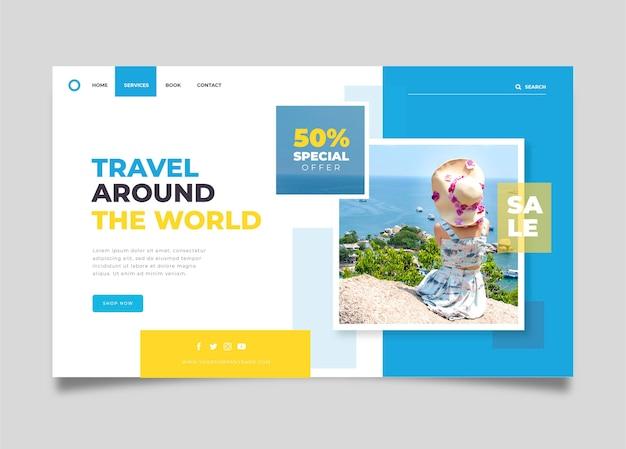 Vente de voyage - concept de page de destination