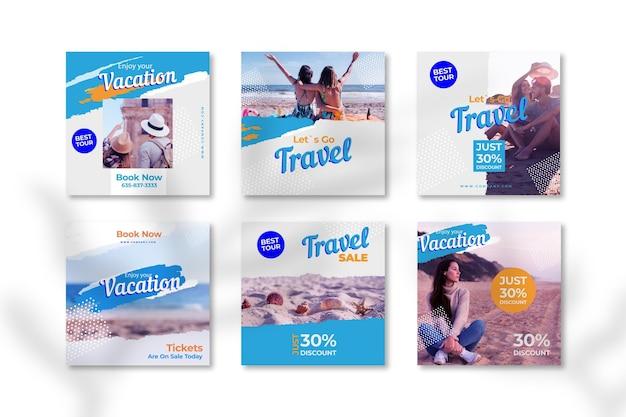 Vente de voyage instagram post collection
