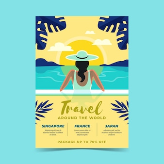 Vente de voyages - flyer illustré