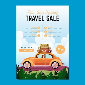 Vente de voyages - flyer illustré