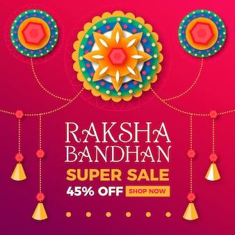 Ventes de bandhan raksha plat