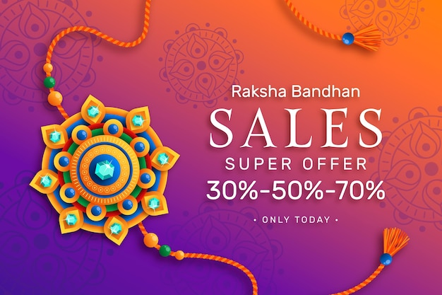 Ventes de raksha bandhan plat