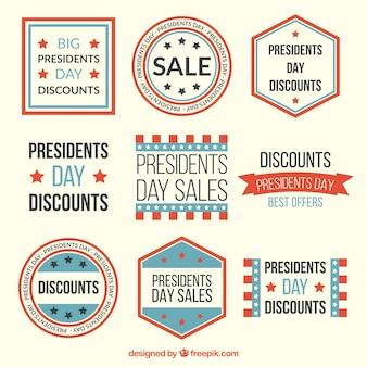 Les ventes vintage badges présidents sac pour la journée