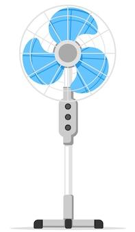 Ventilateur pour l'air de refroidissement en gros plan