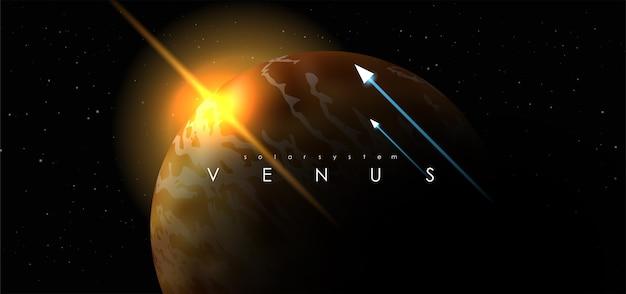 Vénus sur fond de l'espace