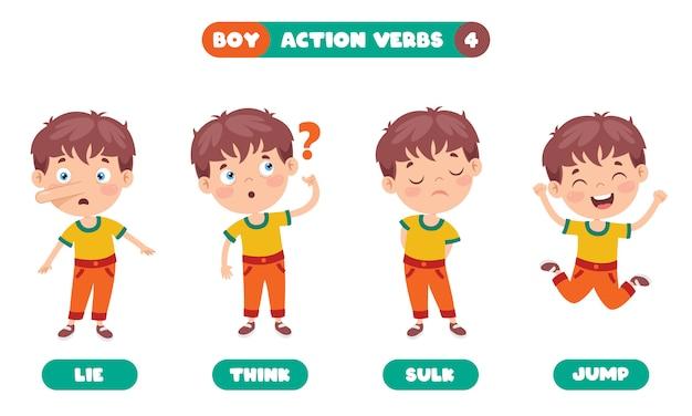 Verbes d'action pour l'éducation des enfants