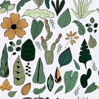 Verdure laisse modèle sans couture