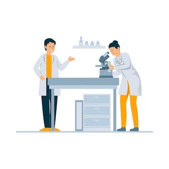 Vérification des échantillons de laboratoire concept illustration