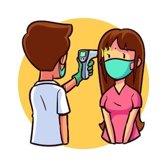 Vérification de la température corporelle