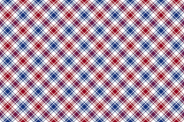 Vérification de la texture transparente rouge bleu blanc diagonal