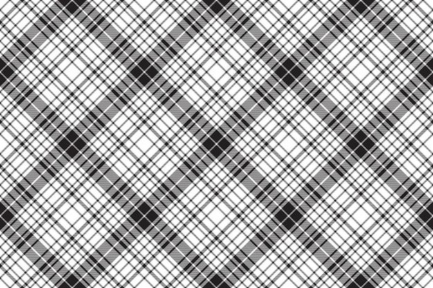 Vérifier la texture diagonale plaid motif transparent noir blanc