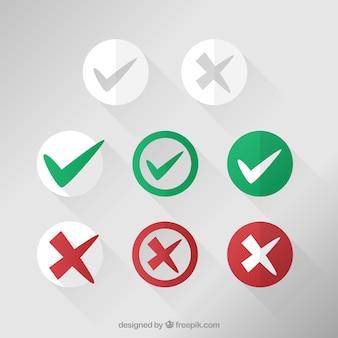Vérifiez collection mark icônes