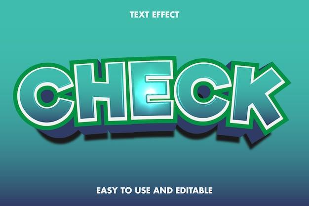 Vérifiez l'effet de texte. style de police modifiable.