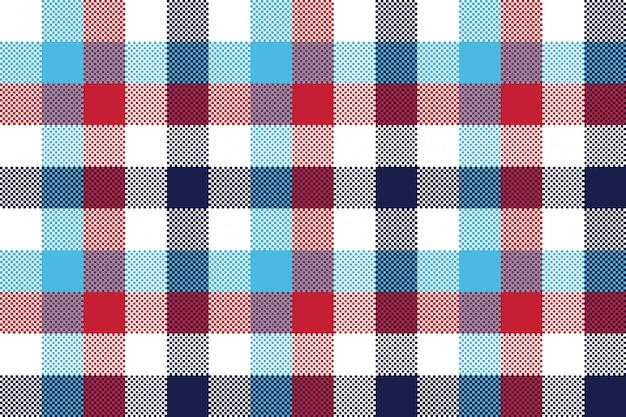 Vérifiez le modèle sans couture de plaid de pixel