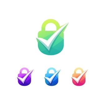Vérifiez verrouiller l'ensemble de logo de verrouillage de sécurité